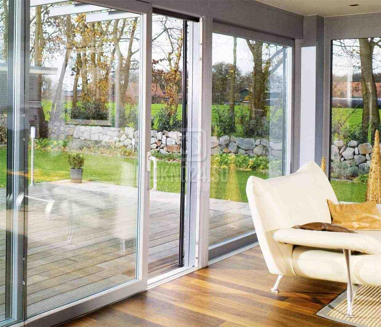 Пластиковые раздвижные окна для лоджии, балкона in на балкон.